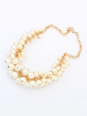 SheenOut Retro Palace Imitation pearls Necklace