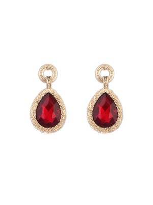 SheenOut All-match Water Drop Temperament Gemstone Earrings