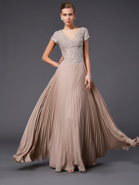 A-Line/Princess Other Chiffon Floor-Length Mother Of The Bride Dresses with Beading