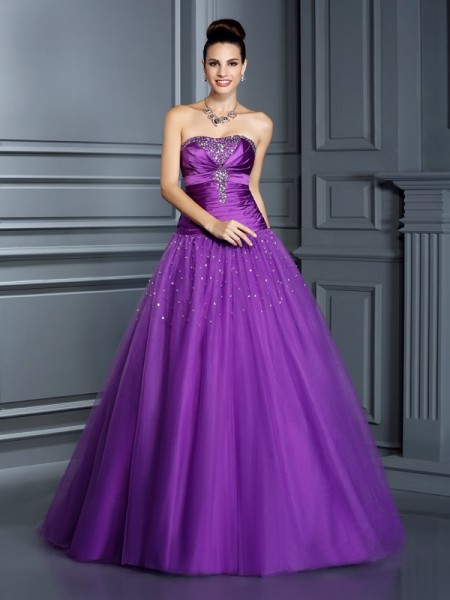 Ball Gown Regency Taffeta Floor-Length Dresses with Other