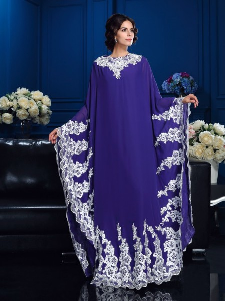 A-Line/Princess Other Chiffon Floor-Length Mother Of The Bride Dresses with Applique