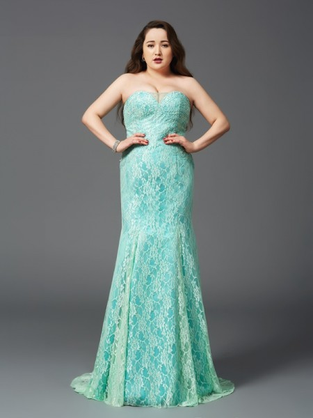 Sheath/Column Other Satin Court Train Dresses with Lace