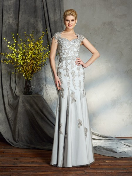 Sheath/Column Other Satin Floor-Length Mother Of The Bride Dresses with Applique