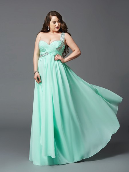 A-Line/Princess Other Chiffon Floor-Length Dresses with Rhinestone