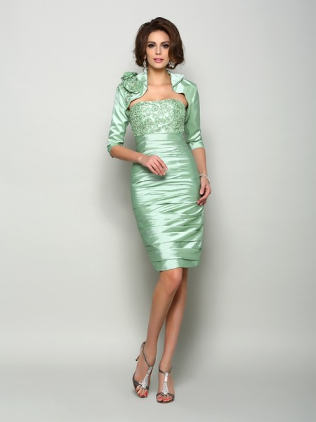 Taffeta 1 2 Sleeves Special Occasion Wrap