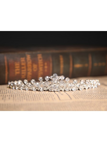 Amazing Alloy Clear Crystals Wedding Headpieces
