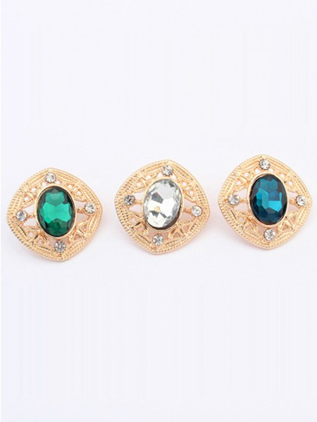 SheenOut Stylish Temperament Gemstone all-match Stud Earrings
