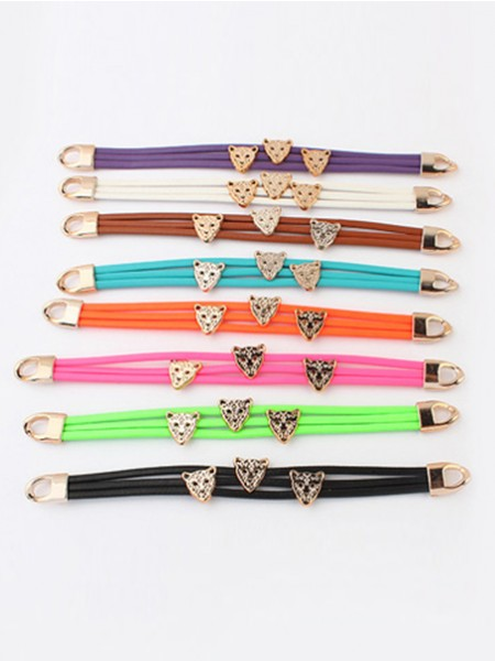SheenOut Candy colors Summer All-match Leopard head Bracelets