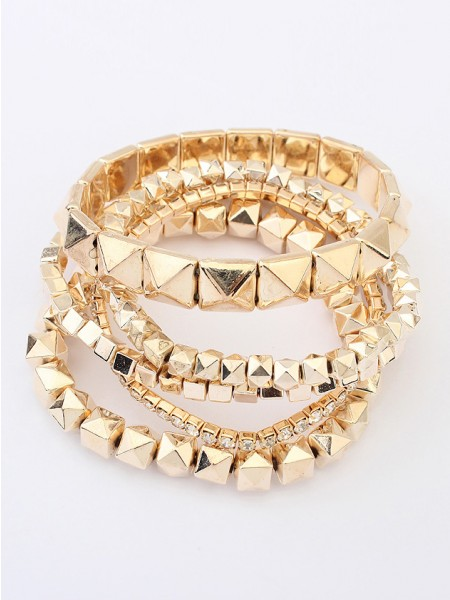 SheenOut Exotic Three-dimensional Small blocks Bracelets