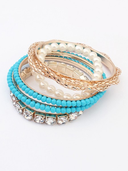 SheenOut Beaded Exquisite Multi-layered Pearls Bracelet