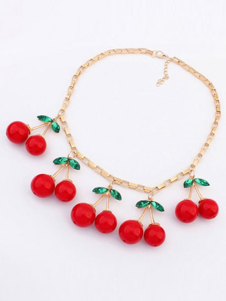 SheenOut Korean version Lovely Cherry Stylish Necklace