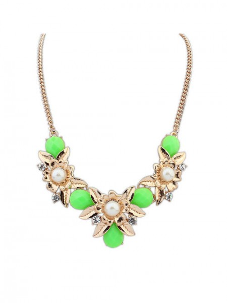 SheenOut Bohemia Geometry Flowers Necklace