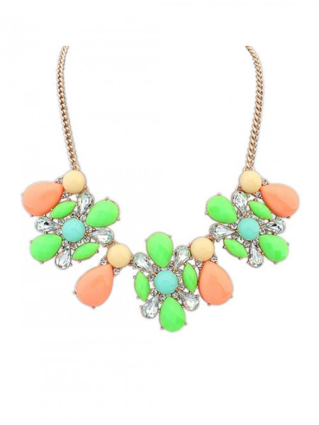 SheenOut Street shooting Collision color Exquisite Simple Necklace
