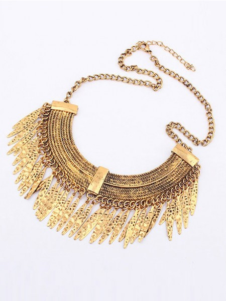 SheenOut Korean version Retro Arcuated Willow pattern Water Drop Necklace