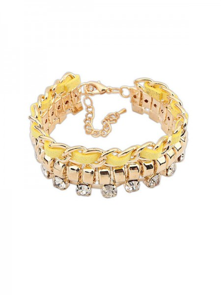 SheenOut Fashionable New Flash Drilling Woven Bracelets