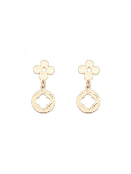 SheenOut Simple All-match Leaf clover Earrings