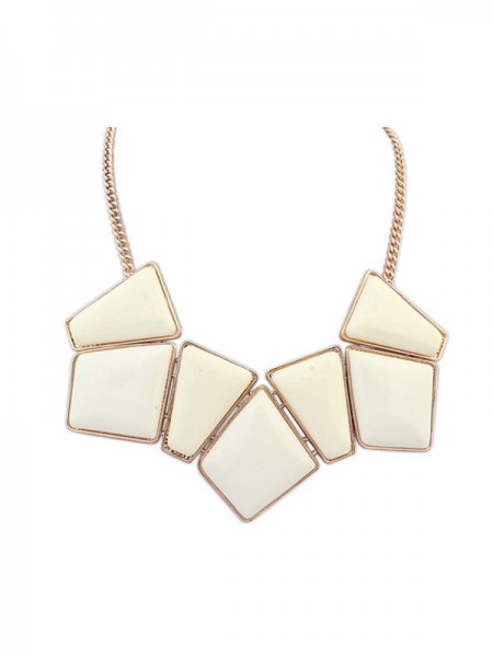 SheenOut Geometry Blocks All-match Necklace