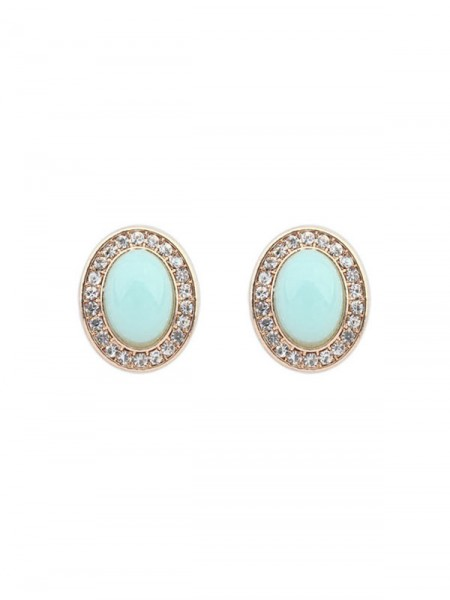 SheenOut Fashionable Oval All-match Stud Earrings