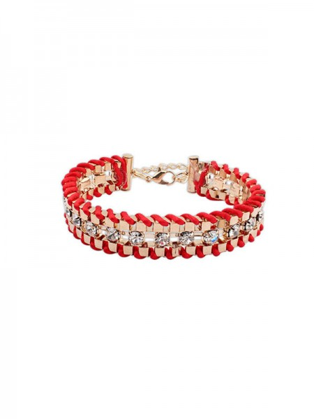 SheenOut Ethnic Customs Woven Rhinestone Bracelets