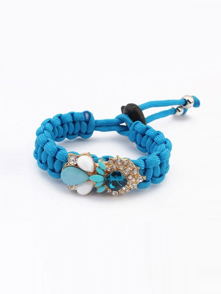SheenOut Fashionable Woven Gemstone Bracelets