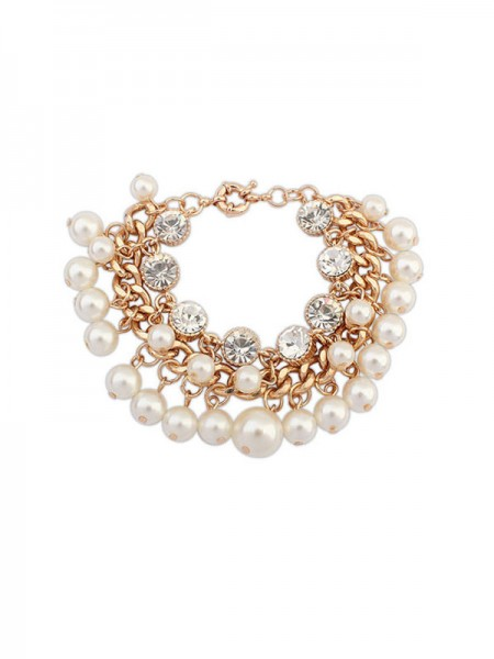 SheenOut Fashionable Pearls Flash Drilling Exquisite Bracelets