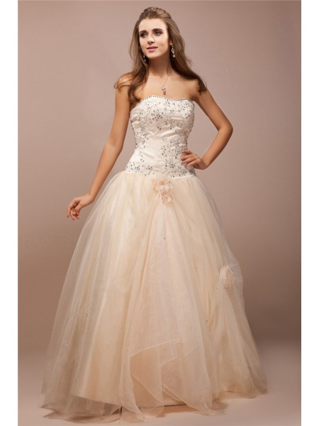 Ball Gown Champagne Satin