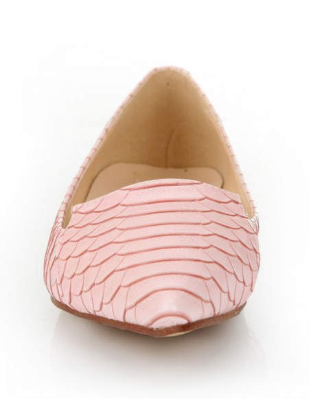 SheenOut Sheepskin Closed Toe Flat Heel With Fish-scale Pattern Casual Flat Shoes S2LSDN1159LF