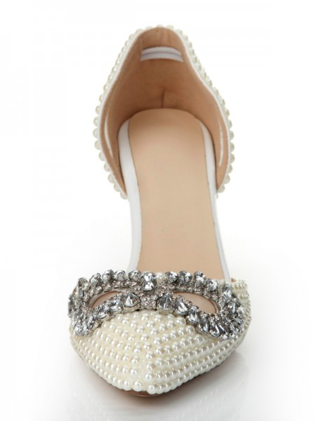 SheenOut Patent Leather Cone Heel Closed Toe With Rhinestone High Heels S2LSDN1175LF
