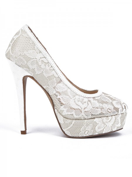 SheenOut Lace Stiletto Heel Closed Toe Platform High Heels S2LSDN1508023LF