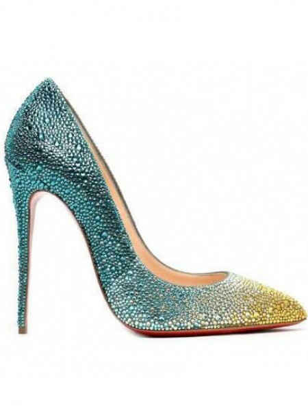 SheenOut Sheepskin Closed Toe Stiletto Heel With Rhinestone High Heels S3LSDN050401LF