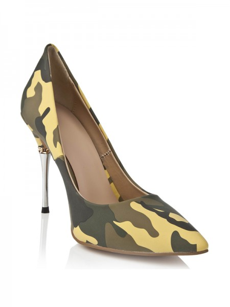 SheenOut Stiletto Heel With Leopard Print Closed Toe High Heels S5LSDN1186LF