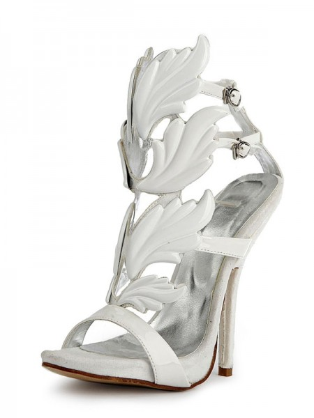 SheenOut Patent Leather Peep Toe Stiletto Heel Platform Sandals Shoes SMA02620LF