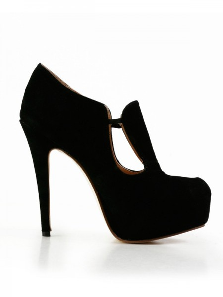 SheenOut Stiletto Heel Suede Closed Toe Platform High Heels SMA02950LF
