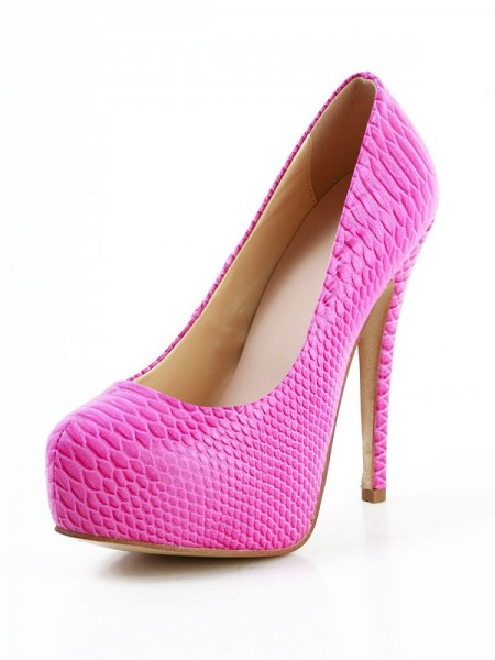 SheenOut Stiletto Heel Sheepskin Closed Toe Platform High Heels SMA02990LF