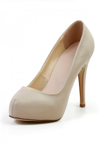 SheenOut Stiletto Heel Sheepskin Closed Toe Platform Platforms Shoes SMA03050LF