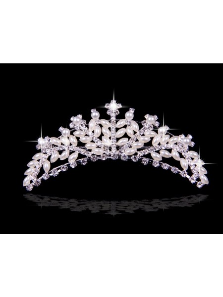 Very Beautiful Alloy With Czech Rhinestones Wedding Headpieces